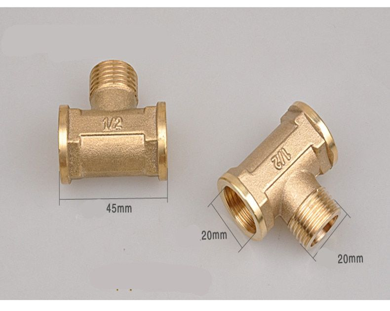 "DN15 1/2"" Female/Male thread Three TEE Joint Pipe Connection  connector Fittings"