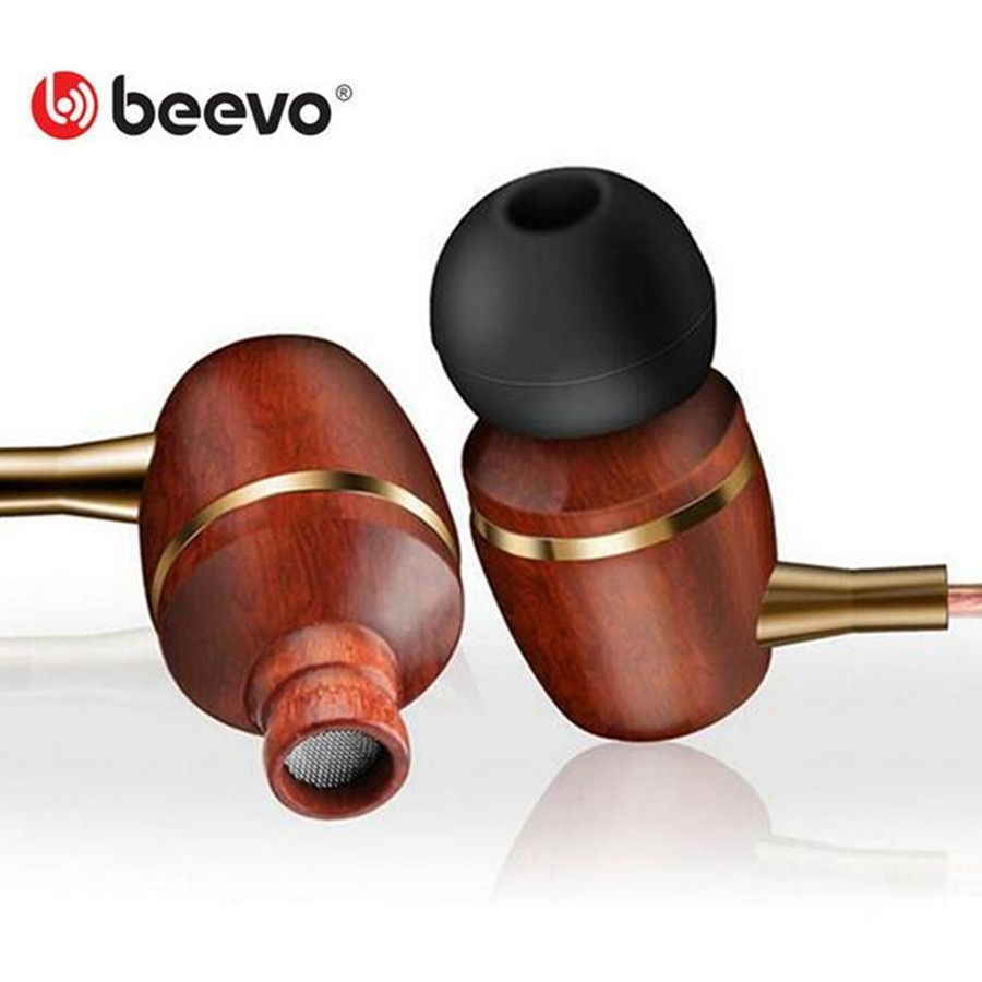 High Quality Bass Wood Metal Earphone Stereo Noise Cancelling earphone with Mic headset for iphone samsung pc fone de ouvido