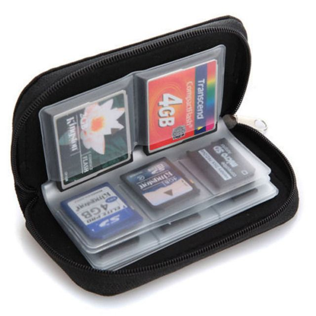 Potable 22 cards slot SD SDHC MMC CF Micro SD Memory Card Storage Carrying Pouch Case Holder  Memory Card Bag 5 Colors