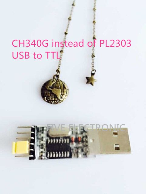 CH340G instead of PL2303 USB Connector to TTL  Nine upgrade small plate , USB MODULE connector