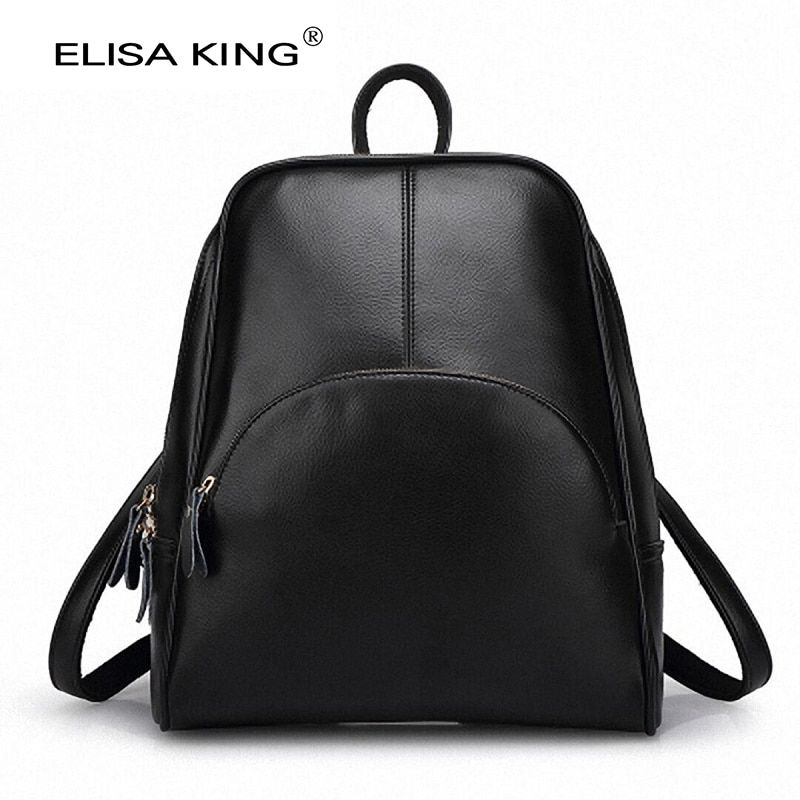 Fashion Women Backpack Student Backpacks Female Leather Backpacks Brand Design Ladies School Bag for Teenage Girls 2017 New
