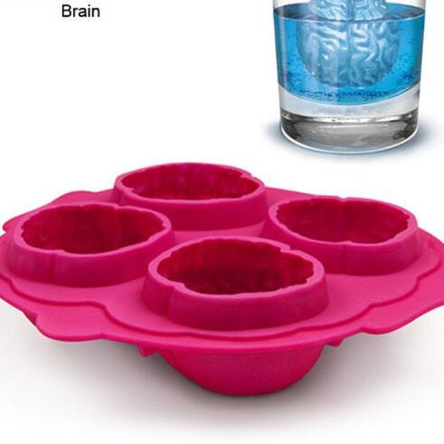 1pcs brain freeze ice cube tray 4 form Bar party Romantic cocktail party for Drink ice new tricks Maker (2016101)