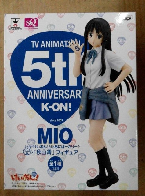 Anime K-ON Mio Akiyama 5th anniversary Ver. PVC Action Sexy Figure Model Toy 18CM