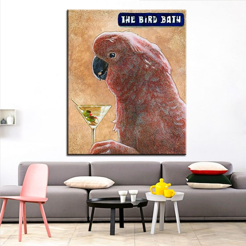 Large size Printing Oil Painting the bird bath Wall painting Wall Art Decoration Picture For Living Room painting No Frame