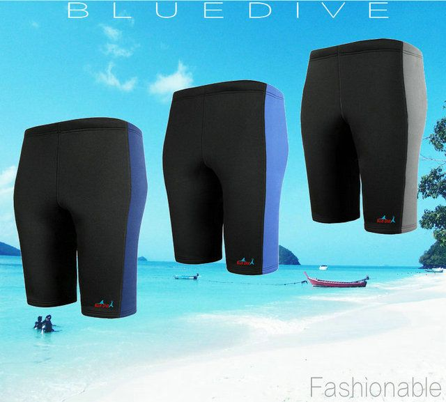 3mm Neoprene Wetsuit RashGuard Swim Shorts for Diving Snorkeling Surf Beach