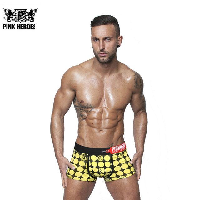 Fashion Hot Men Boxers Brand Dots Print Cotton Male Underwears Sexy Man's Panties European American Boxers Homme Cuecas 2017