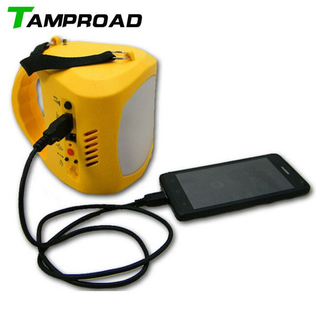 TAMPROAD Portable Solar Kits Radio Solar Power Generator Hand Lamp for Camping 9 LED Flashlight Outdoor Home Light Lamp Lighting