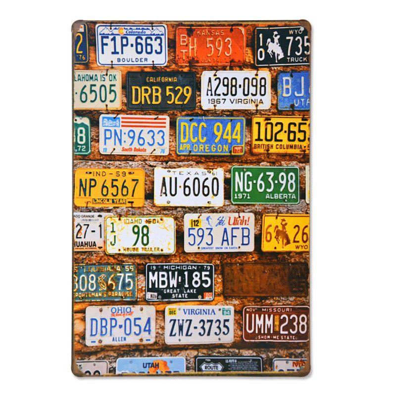 Japanese License Plate Motorcycles Car Metal License Plate Decor Vintage Tin Sign Bar Pub Garage Decorative Art Painting Plaque