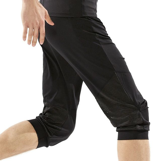 LEFAN New Summer Men Loose Yoga Gym Pants Quick Dry Elastic Breathable Running Training Fitness Sport Cropped Trousers M-XXL