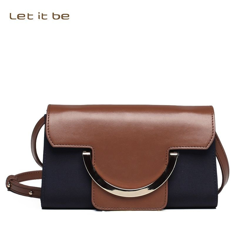 Let it be women crossbody bag for girls mini clutch flap bag with leather trim designer bolsas