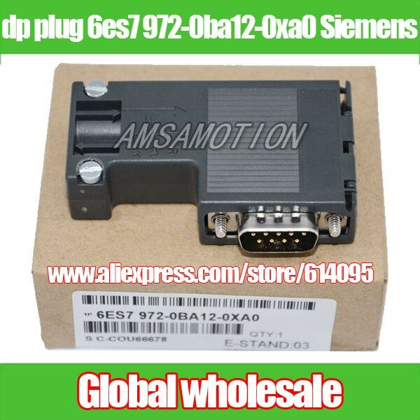 1pcs dp plug 6es7 972-0ba12-0xa0 for Siemens / profibus bus connector adapter DP for Siemens Electronic Data Systems