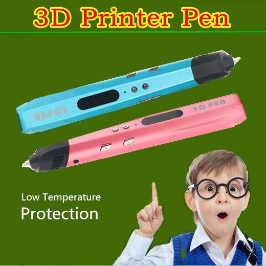 Birthday Gift Latest Authentic 3D Print Pen Add 1.75mm PCL USB POWER BANK Or Adapter 3D Pen Painting Pen+Filament Free Shipping