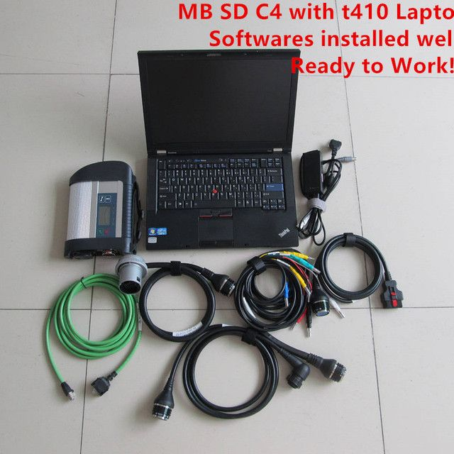 Top PCB mb star sd c4 Best quality + mb star c4 sd connect 2019.03v SSD With laptop T410 for Thinkpad 4gb ram