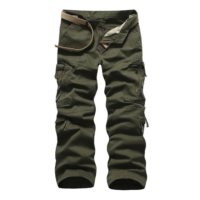 Men Camo Pants  Autumn Men Solid Army Military Pants Sportswear Casual Loose Comfortable Cotton Cargo Harem Trousers Male