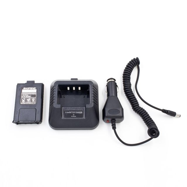 Baofeng Walkie Talkie Vehicle Pack Car Filling Line + Lithium Battery + Home charger For UV-5R UV-5RE plus BF-F8 UV-5RA