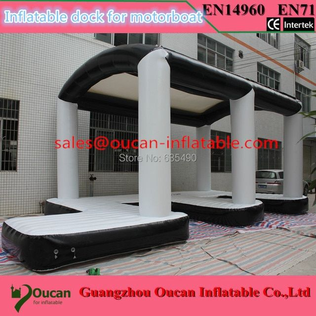 10x5m 0.9mm PVC inflatable dock for motorboat, inflatable island inflatable water park for motoboat