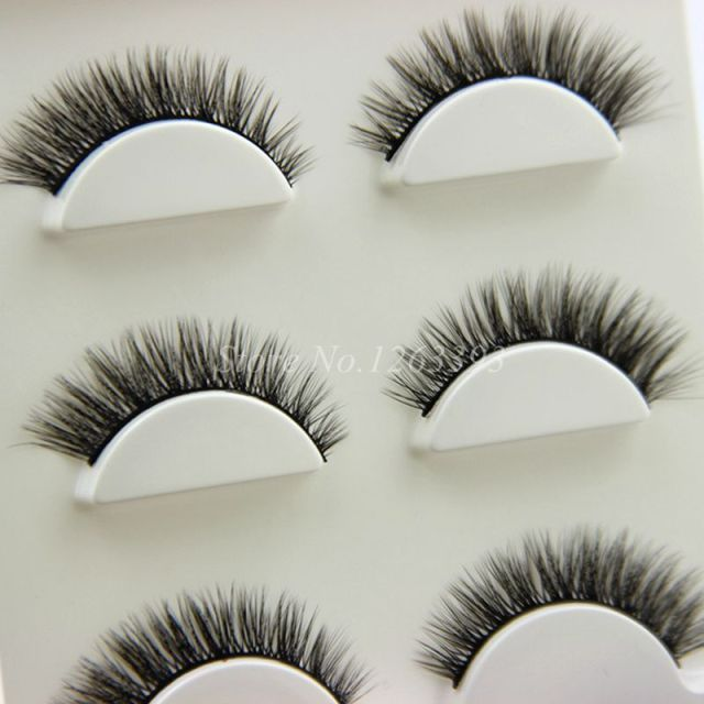 YOKPN 1 Box 3 Pairs 3D False Eyelashes Natural Crisscross-realistic Three-dimensional Soft Fake Eyelashes Beauty Makeup Lashes