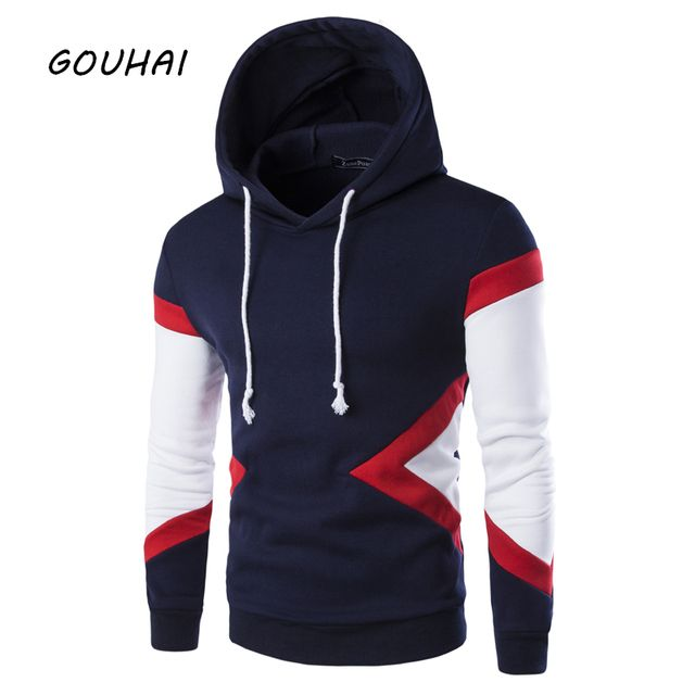 Tracksuit Men Slim Fit Male Sweatshirt Mens Hoodies Patchwork 2017 M-XXL Spring Autumn Fashion Hoodies Mens Sweatshirts