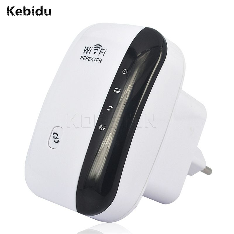 kebidu Wireless WIFI Repeater 300Mbps WiFi Signal Range Extander WiFi Signal Amplifier Strengthen wi fi Booster 802.11N/B/G