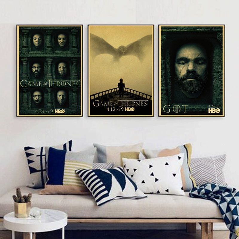 Vintage Paper Retro anime poster Game of Thrones Posters poster Vintage Home Wall sticker Decor