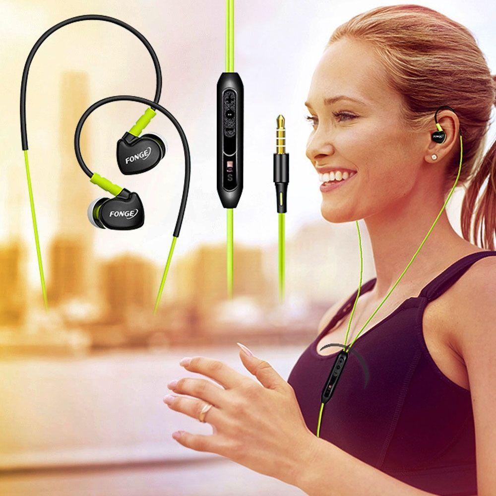 3.5mm Stereo In Ear Earphone Sports Running Earphones Handsfree HiFi Bass Earbuds With Mic For PC Xiaomi Samsung Huawei Phones