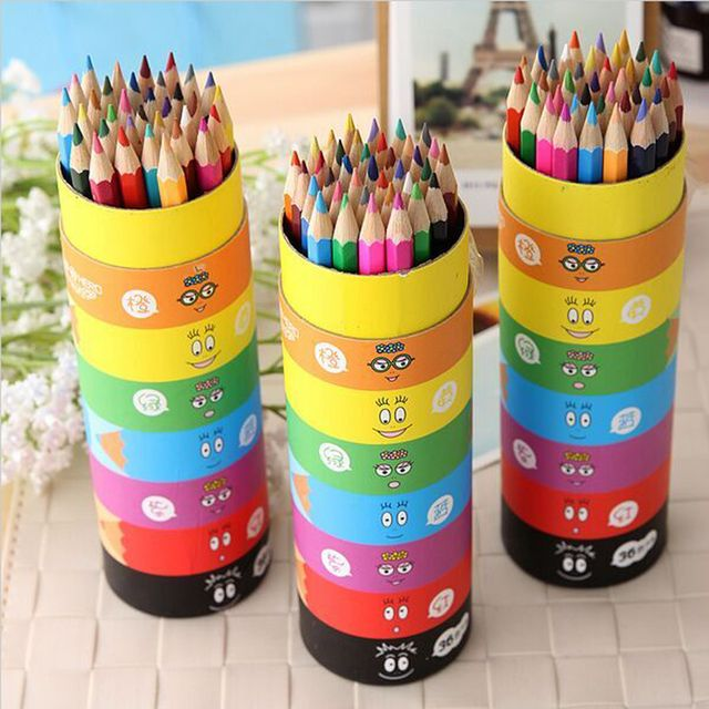 2016 New 48 36 12 pcs/pack colored pencil multicolour painting school supplies stationery