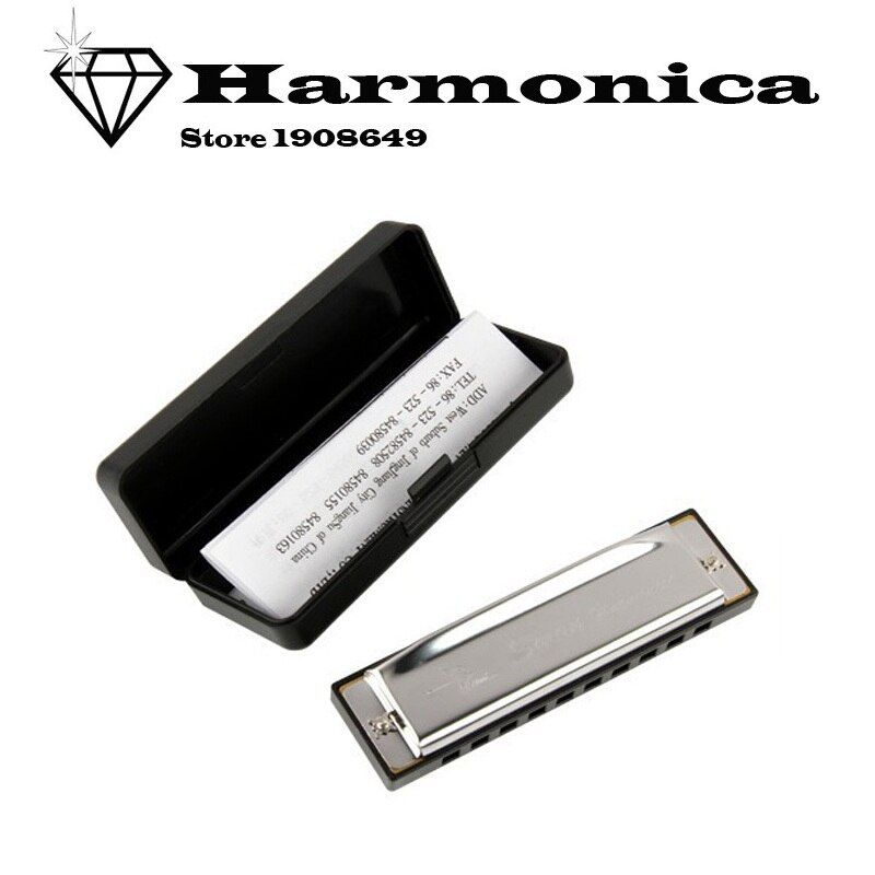 D19 New Silver Swan Harmonica 10 Holes Key of C for Blues Rock Jazz Folk Harmonicas armonica g professionale