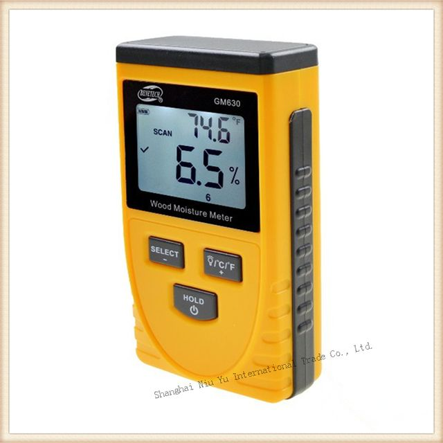 Hot Moisture meter Portable Inductive Wood Moisture meter Measure range 0.5-79.5% + Registered Air Mail Shipping