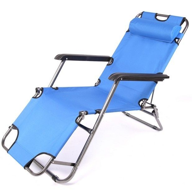 Cheap long 153CM outdoor dual recliner chairs office lunch break bed folding chair leisure portable
