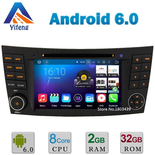 Android 6 Octa Core 2GB RAM 32GB ROM Car DVD Player Radio Stereo GPS For Benz E Class W211 CLK W209 CLS W219 G W463 DAB+ RDS BT