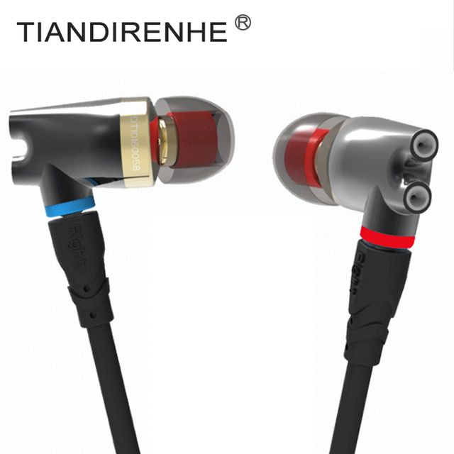 For Shure SE215 SE535 SE425 MMCX Cable Senfer DT2Plus Hybrid 3 Unit In-Ear Earphone Replaced Upgrade HIFI Headset for iPhone IOS