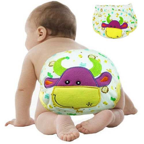 5Pcs Cartoon Baby Training Pants Waterproof Diaper Pant Potty Toddler Panties Newborn Underwear Reusable  Carters Cotton Diapers