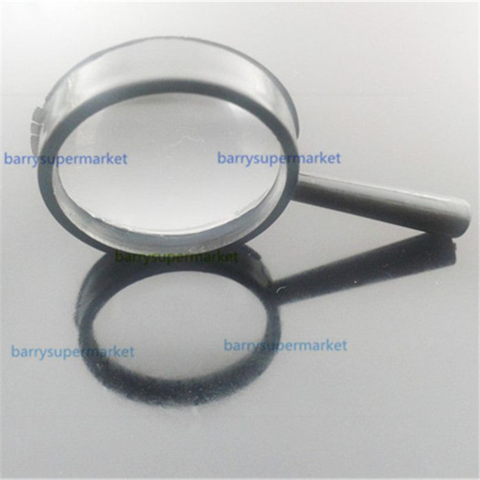 100pcs Acrylic Magnifier Small hand-held magnifying glass 25mm Children Reading Magnifier(Magnifiers)