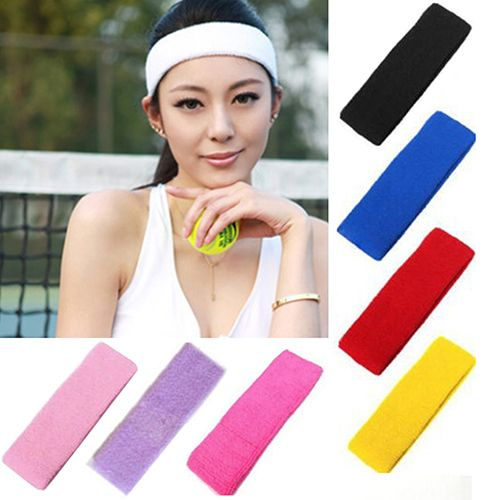 Sweatband Headband Yoga Basketball  Gym Sport Stretch Head Hair Band zweetband hoofd Universal