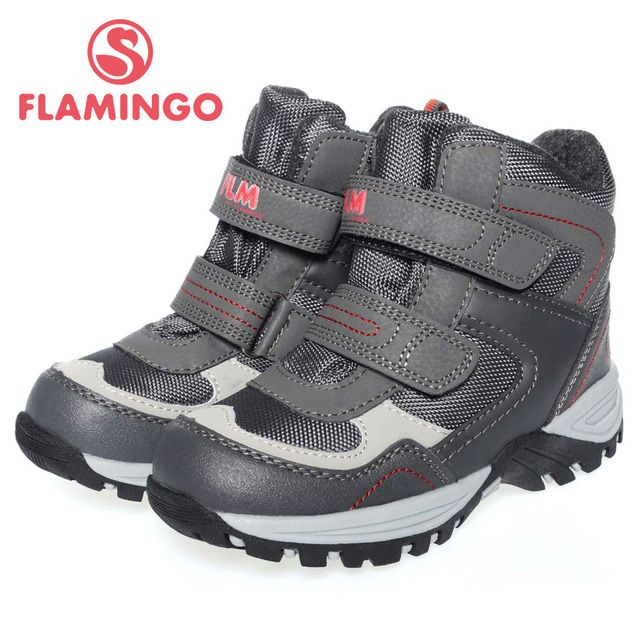 FLAMINGO high quality fashion winter children's shoes for boy 2015 new collection anti-slip waterproof snow boots 52-GC502