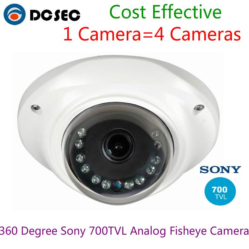 Best Home Security fish-eye lens Analog Sony 700TVL Efffio-e CCD 360 degree wide angle fisheye panorama cctv mini dome camera