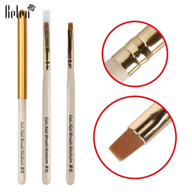 Belen Brush Pen DIY Gel Nail Varnish UV LED Soak off 3D Effect Acrylic Nail Brush UV GEL Nail Art Brushes Pen 6 DIY Drawing
