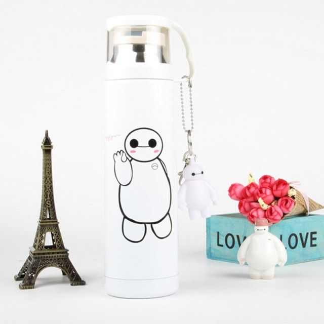 500ml Cartoon Thermos Mug Stainless steel vacuum flasks thermoses Women travel mug Children termos thermocup thermo cup termico