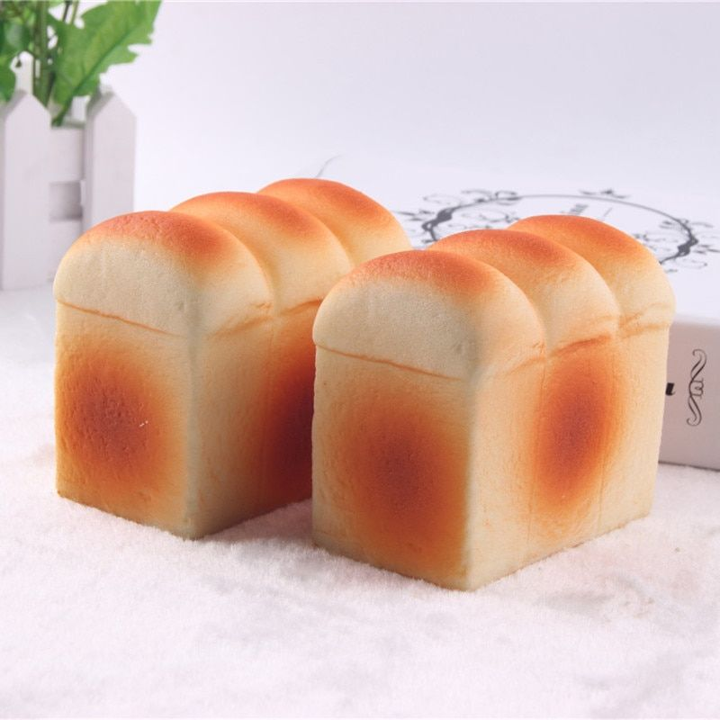 Jumbo Toast Slow Rising Squishy Bread Toy Squeeze Toys Phone/Bags Charm Straps Squishies Food Decoration Kids Toy