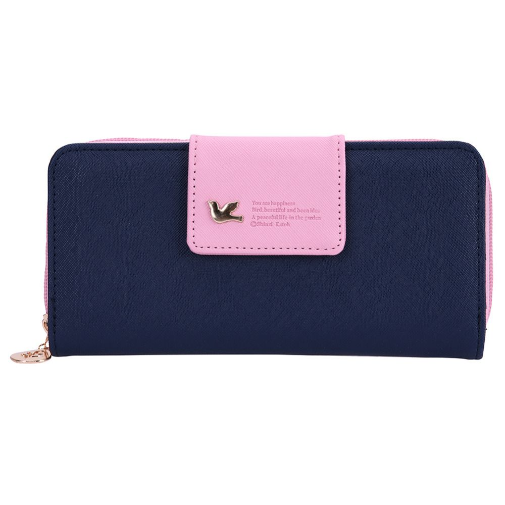 Fashion Long Wallet Women Zipper Leather Purses carteira Credit card holder Ladies Zipper Wallet