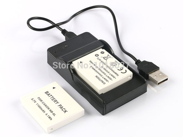 2PC NB-6L NB 6LH NB 6L Rechargeable Camera Digital Battery + Micro USB Charger For Canon PowerShot SX280 SX510 SX600 SX700 HS