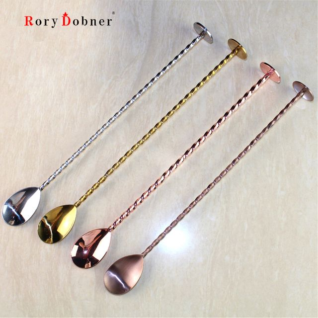 27CM Bar Spoons Tools Bartending Appliances Thread Bar Spoon Thread Diagnostic-tool Cocktails Tapon Vino Bartender Bar J955
