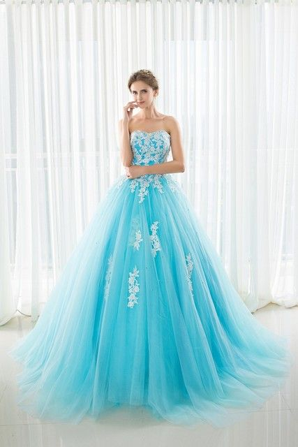 In Stock Sweetheart Quinceanera Dresses Ball Gowns With Appliques Lace Up Sweet 16 Dresses Vestidos De 15 Years Party Gowns