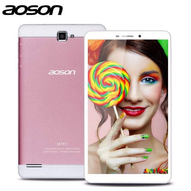 2016 Best 7 inch Built-in 3G Phone Android Tablet  Aoson M76T Tablet Pc Octa Core MTK8392 Netbook Pc Bluetooth Wifi IPS