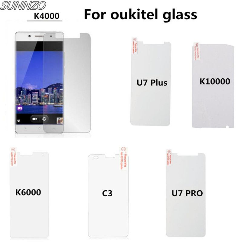 Clear Stock 3pcs For Oukitel K4000 Tempered Glass Film High Quality Screen Protector Film For Oukitel K4000 Cellphone