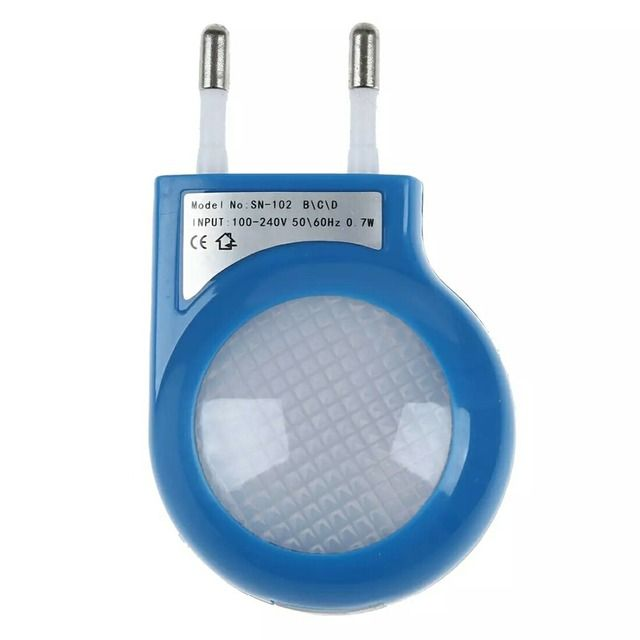 Blue LED Sensor Night Lamp with 0.7W Low Power Plug/xj