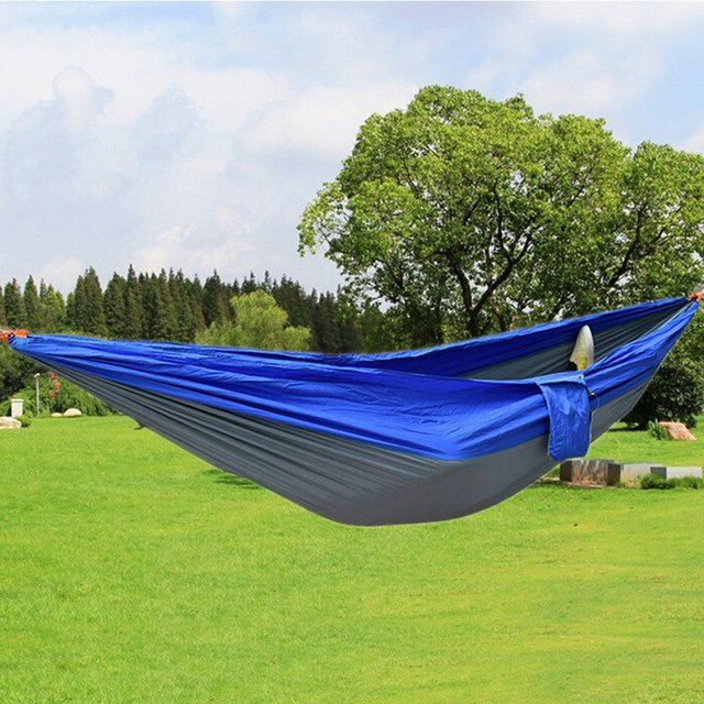 Newest Durable Colorful Hammock Double Person Assorted Color Portable Parachute Nylon Fabric For Indoor Outdoor Use Multi-color