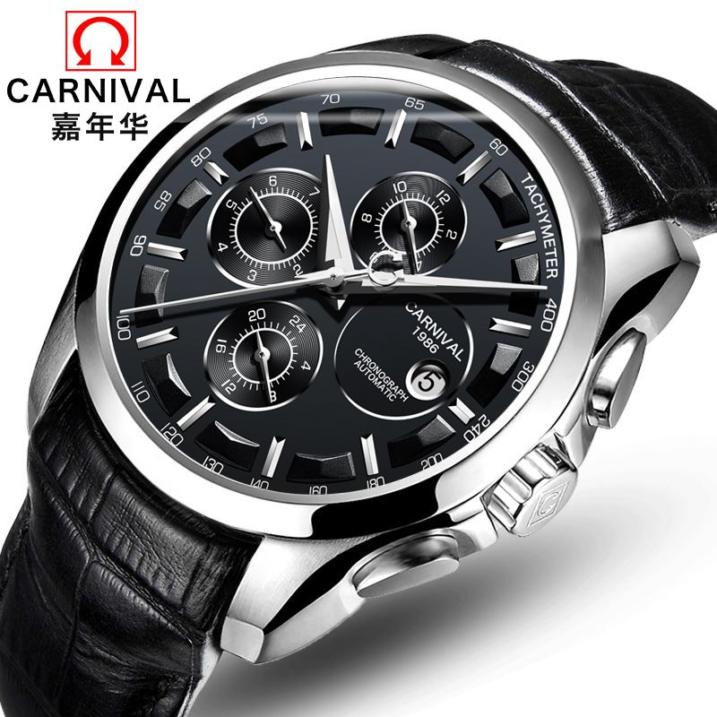 2018 New Rushed Genuine Carnival Watch Men Automatic Mechanical Watches Mens Watches Top Brand Luxury Relogio Masculino Clock