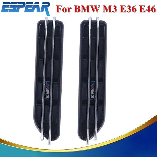 Air Flow Fender Side Vents Mesh Sticker Hole Grille For BMW E60 E61 E39 E34 M3 E46 E36 Car Accessory #9147