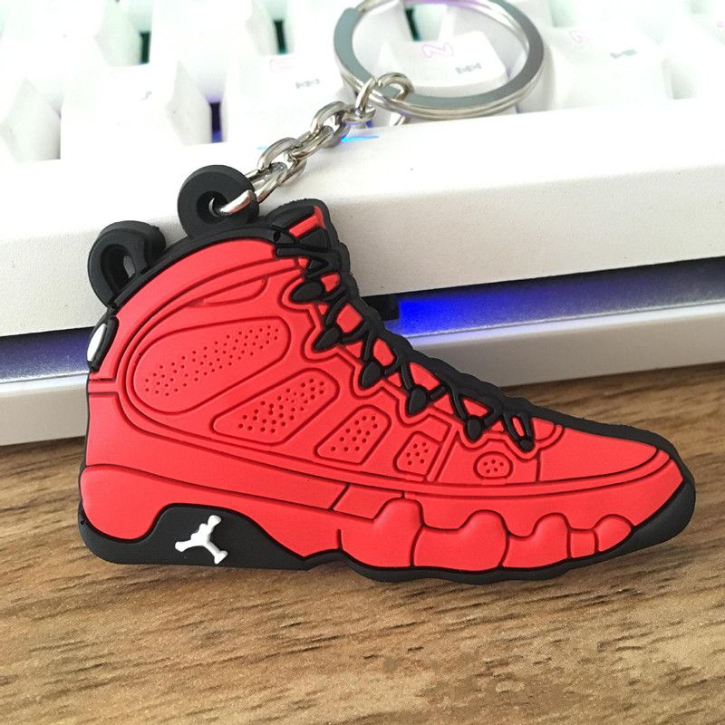 Halloween Christmas Gifts for Couple Creative Jordan Shoes Keychain chaveiro Car Key Chain Pendants Hanging Ornaments Wholesale